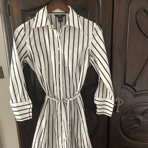 "Brooks Brothers ""non iron"" pinstripe dress"